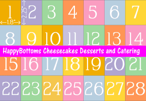 Cake slices half sheet in 21 pieces png